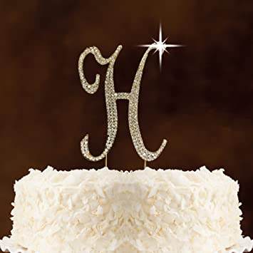 Amazon Com Rhinestone Crystal Cake Topper Silver Numbers