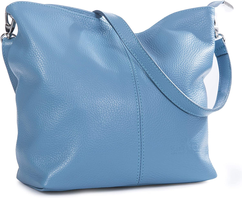LiaTalia - Bolso de hombro para mujer de piel suave - modelo Hobo - ADAL