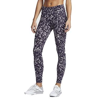 0c56ebff297c7 Nike Women`s Power Legendary Printed Mid Rise Training Tights (XL 26, Plum