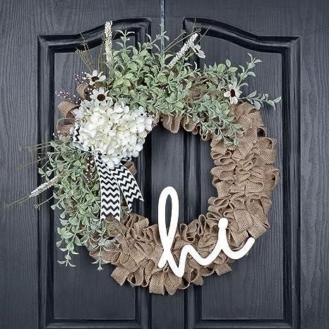 Summer Wreath Floral Wreath Door Hanger Grapevine Wreath Front Door Wreath