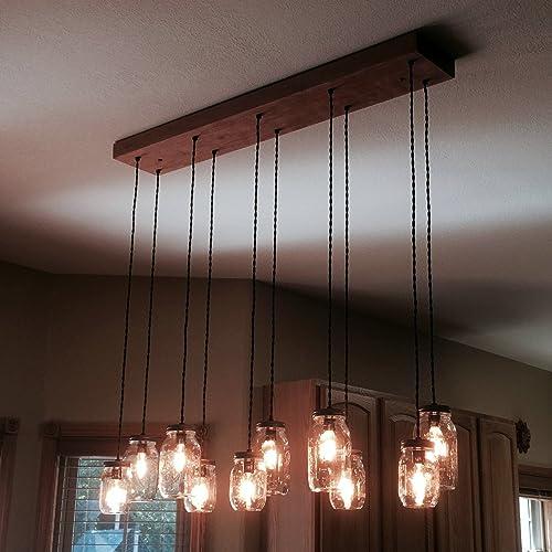 diy mason jar lighting. 10 Light DIY Mason Jar Chandelier Kit Diy Lighting
