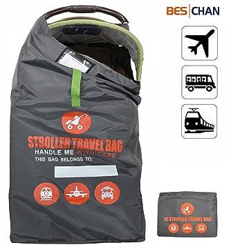 Beschan XL Bolsa de Transporte Cochecitos Viaje Impermeable Ligero Estándar o doble Carritos Buggy para el Avión, Tren, Coche: Amazon.es: Bebé