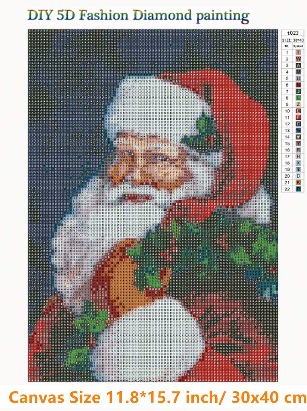 Full Drill Santa Claus Rhinestone Embroidery Cross Stitch Pictures Arts Craft Home Wall Decor 11.8x15.8 inch Diamond Painting Kits for Adults