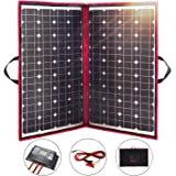 Dokio 100 Watts 12 Volts Solar Panel Monocrystalline Foldable with Charge Controller
