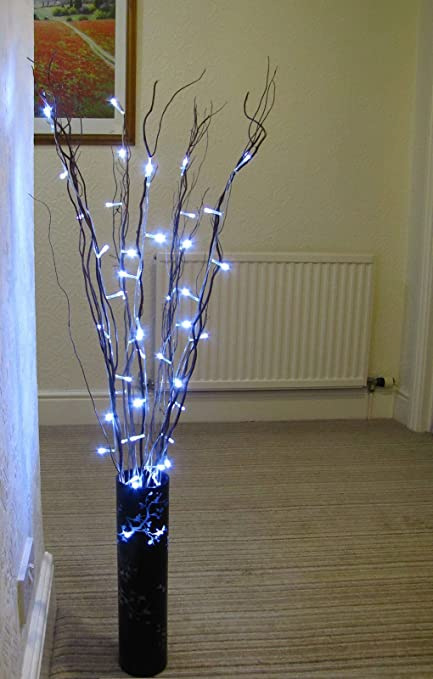50 Led Brown Fairy Twig Branch Vase Light Decorative Home Wedding
