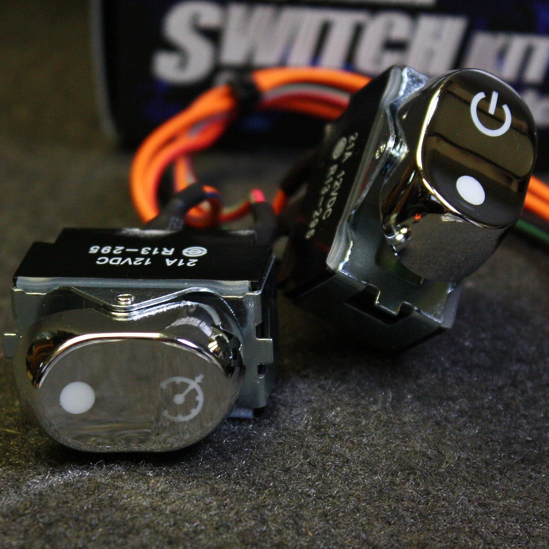 Daytona Chrome Inner Fairing Rocker Switch 70219-08CP Harley FLHX