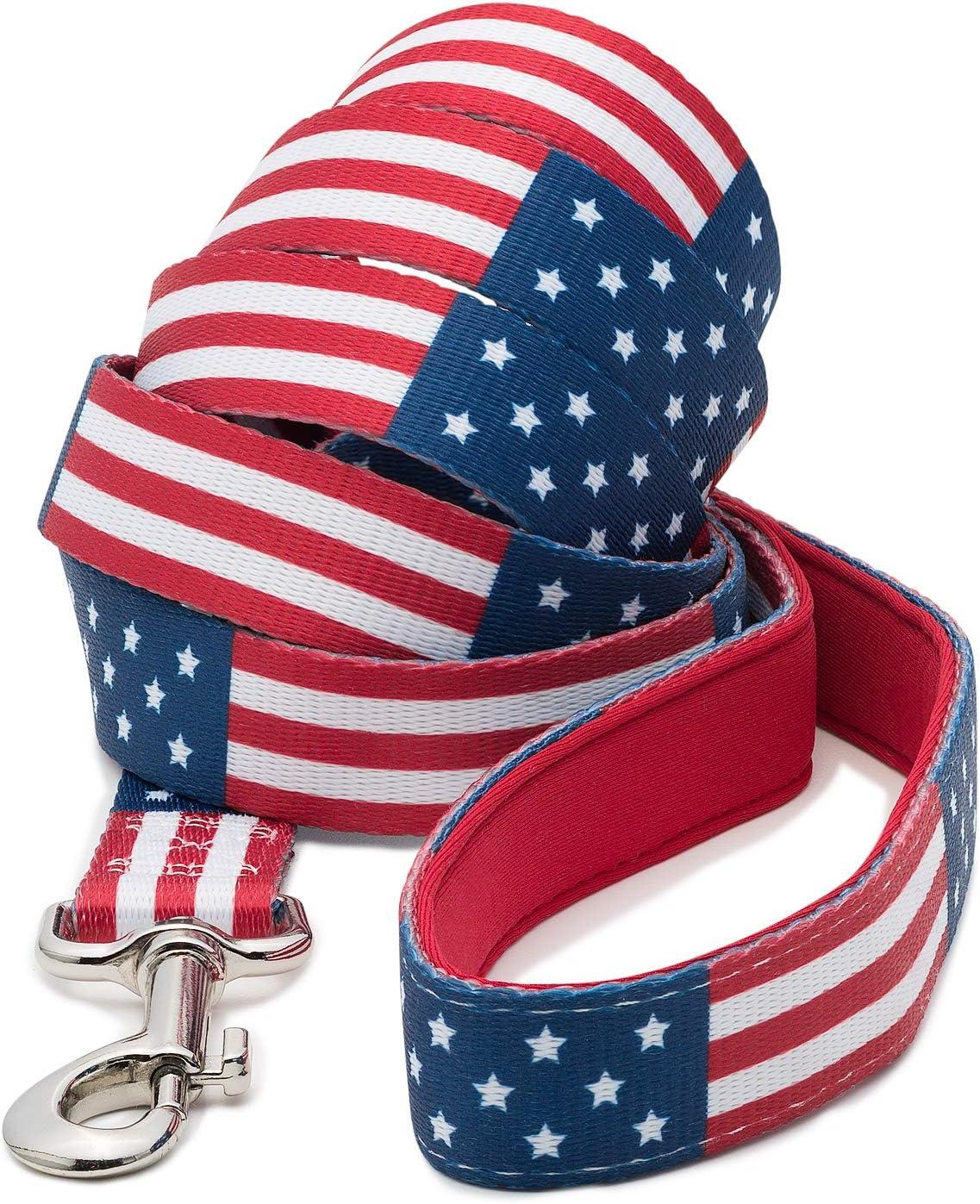 Correa para perro con bandera estadounidense: Amazon.es: Productos para mascotas