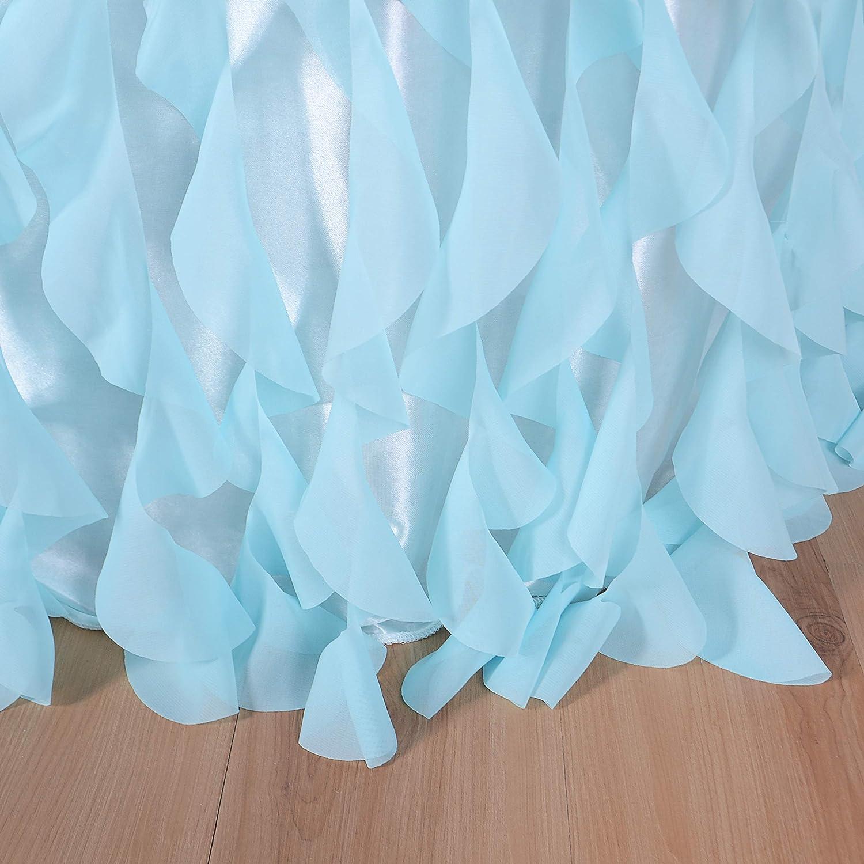 Falda de Mesa de tafet/án Hecha a Mano para Bodas cumplea/ños Baby Shower Multicolor, 183cm * 76cm HBBMagic Falda de Mesa de Tul para Mesa Redonda o Rectangular decoraci/ón de Mesa