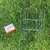 MTB H Frame Wire Stakes 20 x10-inch (Pkg of 50) 9ga Metal -Yard Sign Stakes for Advertising Board,Yard Stakes for Signs
