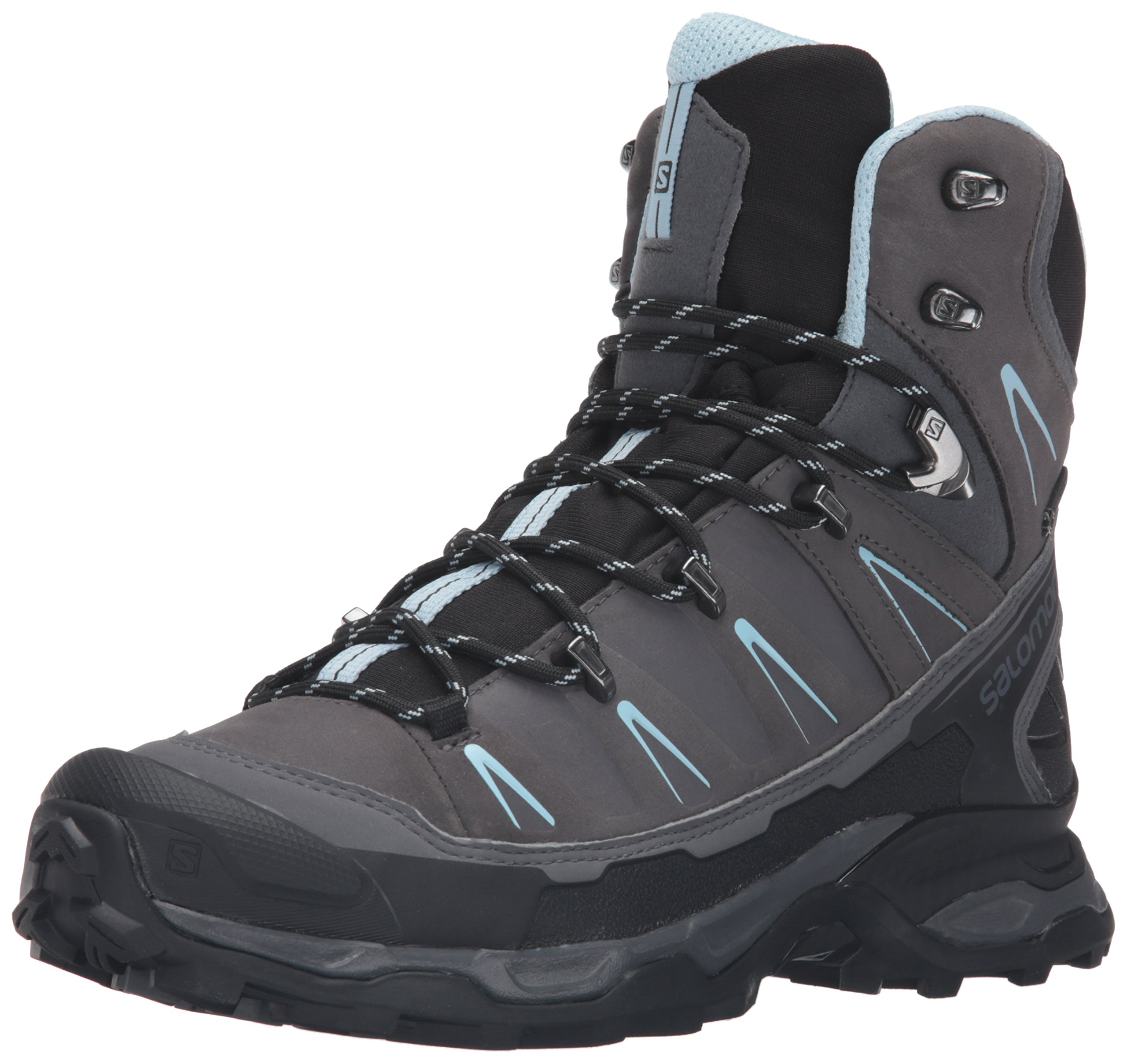 Salomon Women's X Ultra Trek Gtx W Backpacking Boot, Dark Cloud/Black/Cristal, 8.5 M US