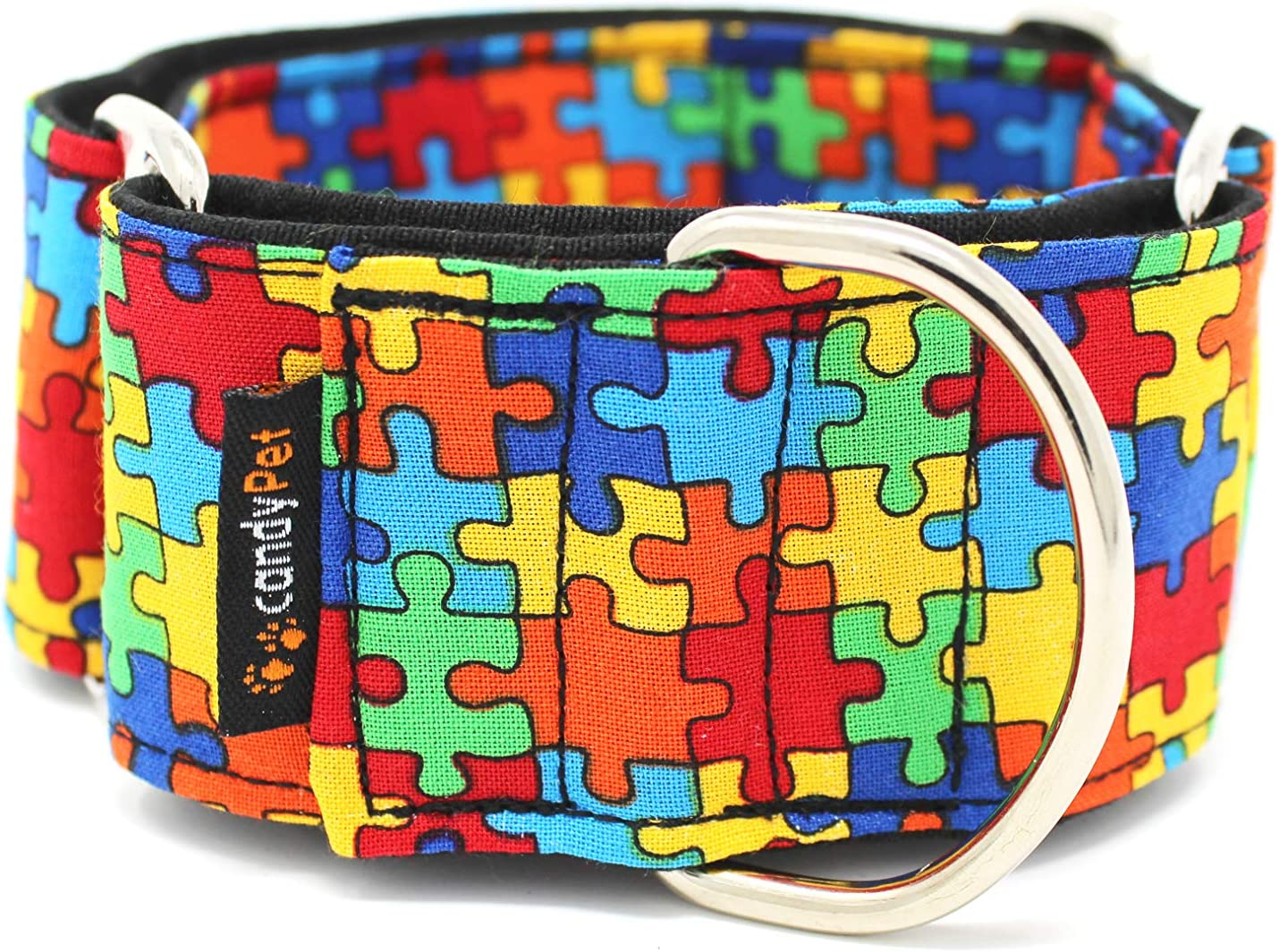 candyPet Collar Martingale para Perros - Modelo Puzzle, S: Amazon ...