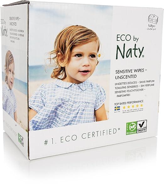10 opinioni per Naty by Nature Babycare Salviettine Umide Ecologiche, senza Profumo- 3