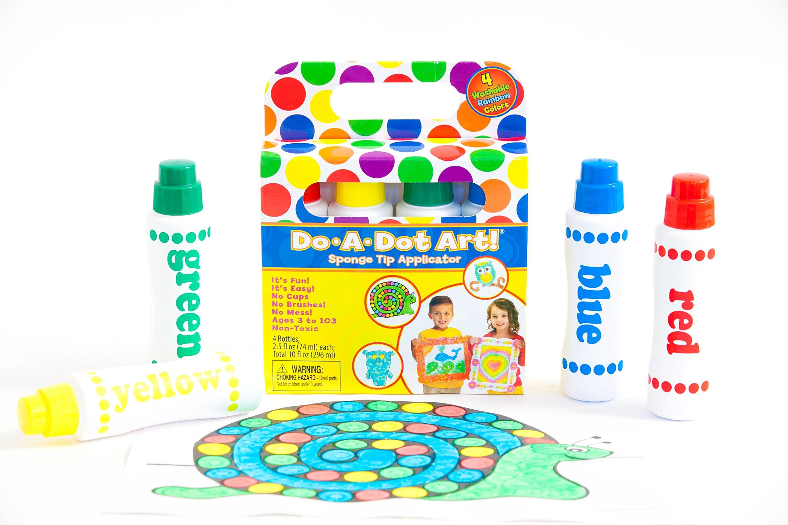 Do-A-Dot Art Rainbow 4 Pack Washable Dot Markers, The Original Dot Marker