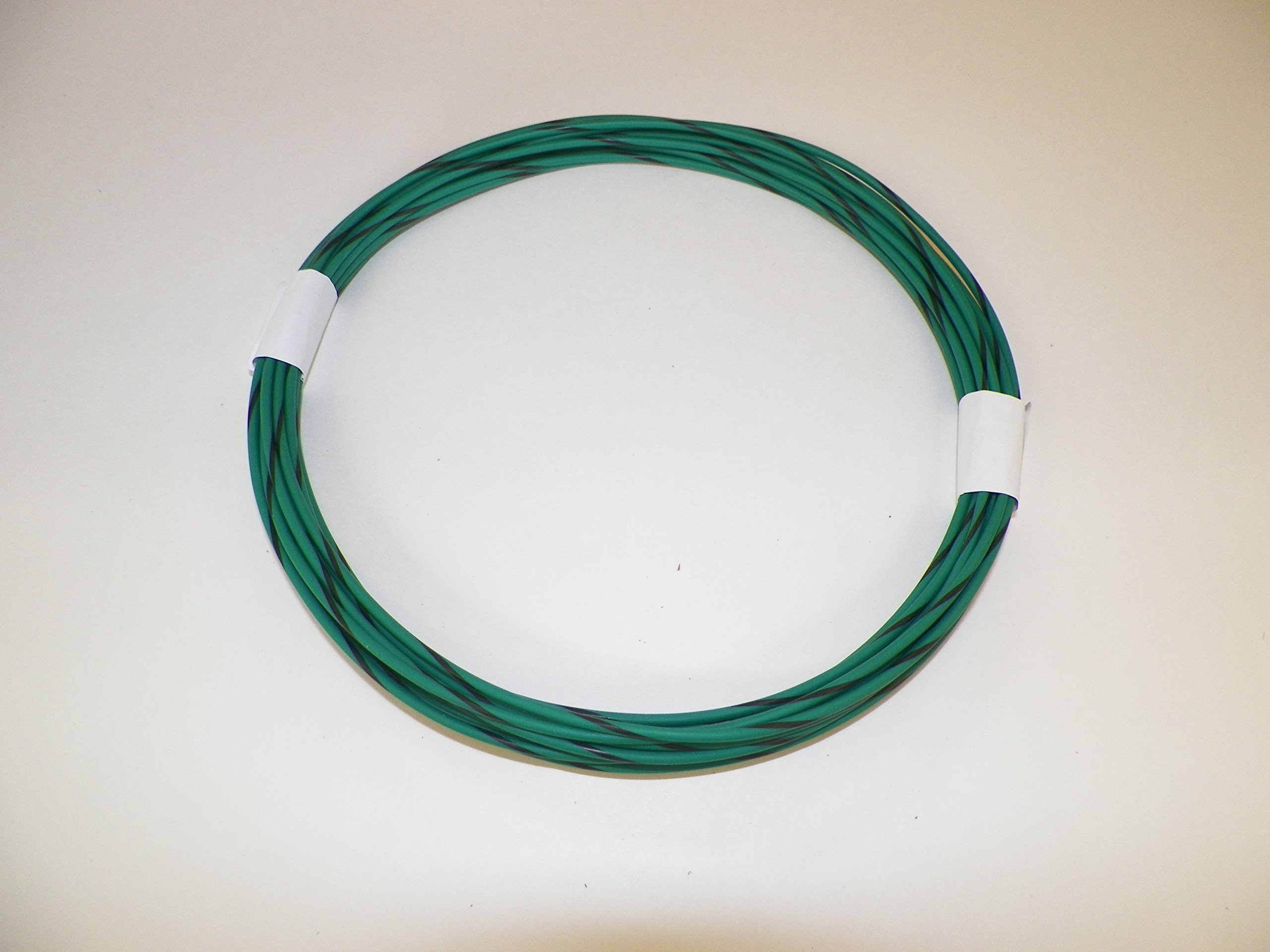 18 Ga Awg green/black Striped Automotive Truck Motorcycle General Purpose GXL Wire .94 O.D. 25' Superior Abrasion Resistance, High Heat, Resist grease,Oil, Gasoline,Acids