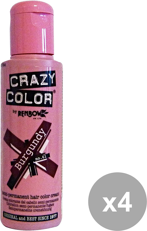 Crazy Color Tinte Capilar Semi-Permanente Pack de 4 x 100ml ...