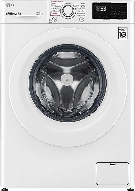 color blanco 1200 RPM 7 kg Lavadora inteligente A+++ -20/% LG Electronics F2WN2S70S3W Serie 200 Fondo especial
