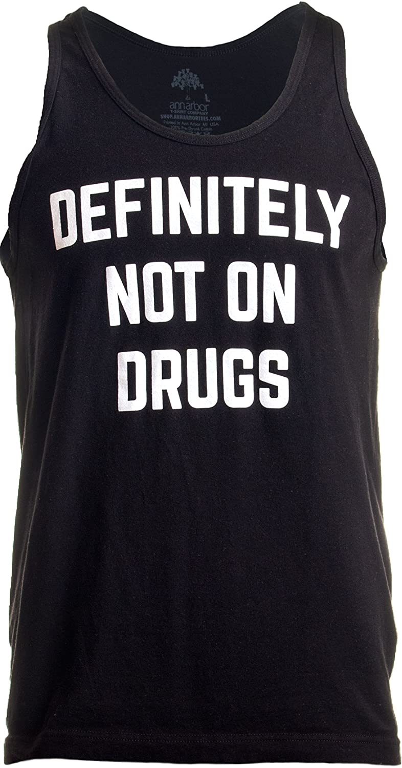 329ccfaca Amazon.com: Definitely Not on Drugs | Funny Party, Rave, Festival Club  Humor Unisex Tank Top: Clothing