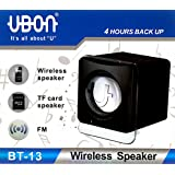 UBON BT-13 Wireless Bluetooth Speaker with FM & Mini TF Card powered by Rechargeable Battery (4 hours backup)