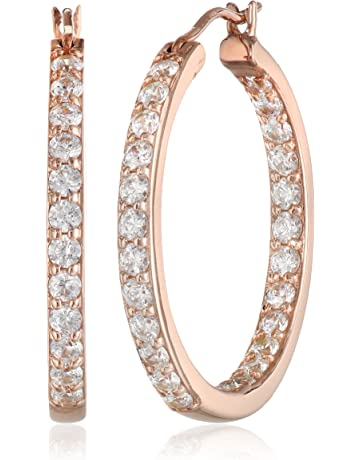 8894819a6 Plated Sterling Silver Inside-Out Hoop Earrings made with Swarovski Zirconia