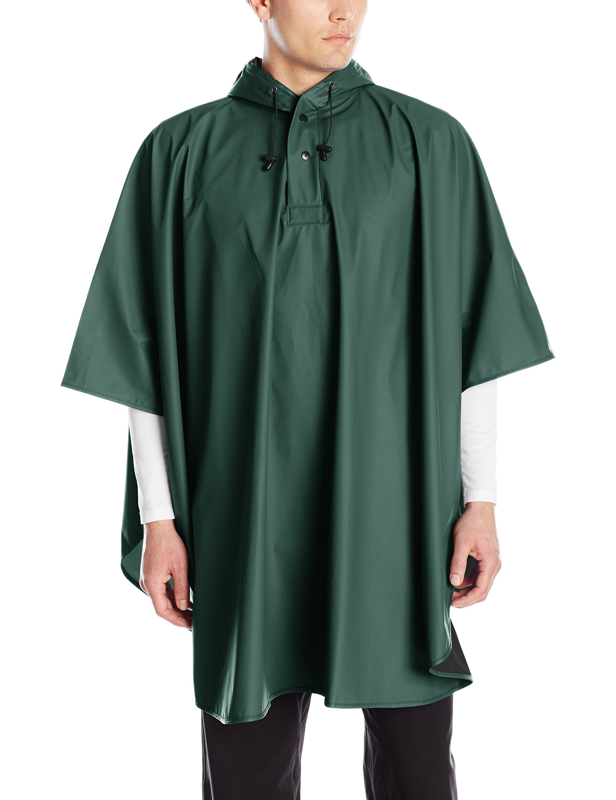 Charles River Apparel Men's Pacific Poncho, Forest, One Size