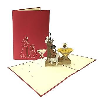 Weihnachtsgrüße Arbeitgeber.Weihnachtskarte Weihnachtskrippe Pop Up 3d Weihnachten Karte