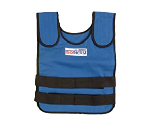 """Bullard ISO2 Isotherm Cool Vest Complete with Outer Vest and Two Packs; Size LG Flame Retardant; Chest Size 30-40""""; Blue, One Size"""