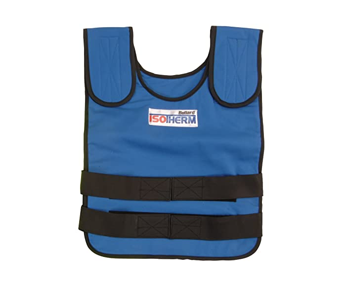 """Bullard ISO2XL Isotherm Cool Vest Complete with Outer Vest and Two Packs; Size XL Flame Retardant; Chest Size 38""""-48""""; Blue, One Size"""