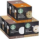 Starbucks White Cup Variety Pack De Nescafe Dolce Gusto Cápsulas De Café 6 X Caja De 12 Unidades