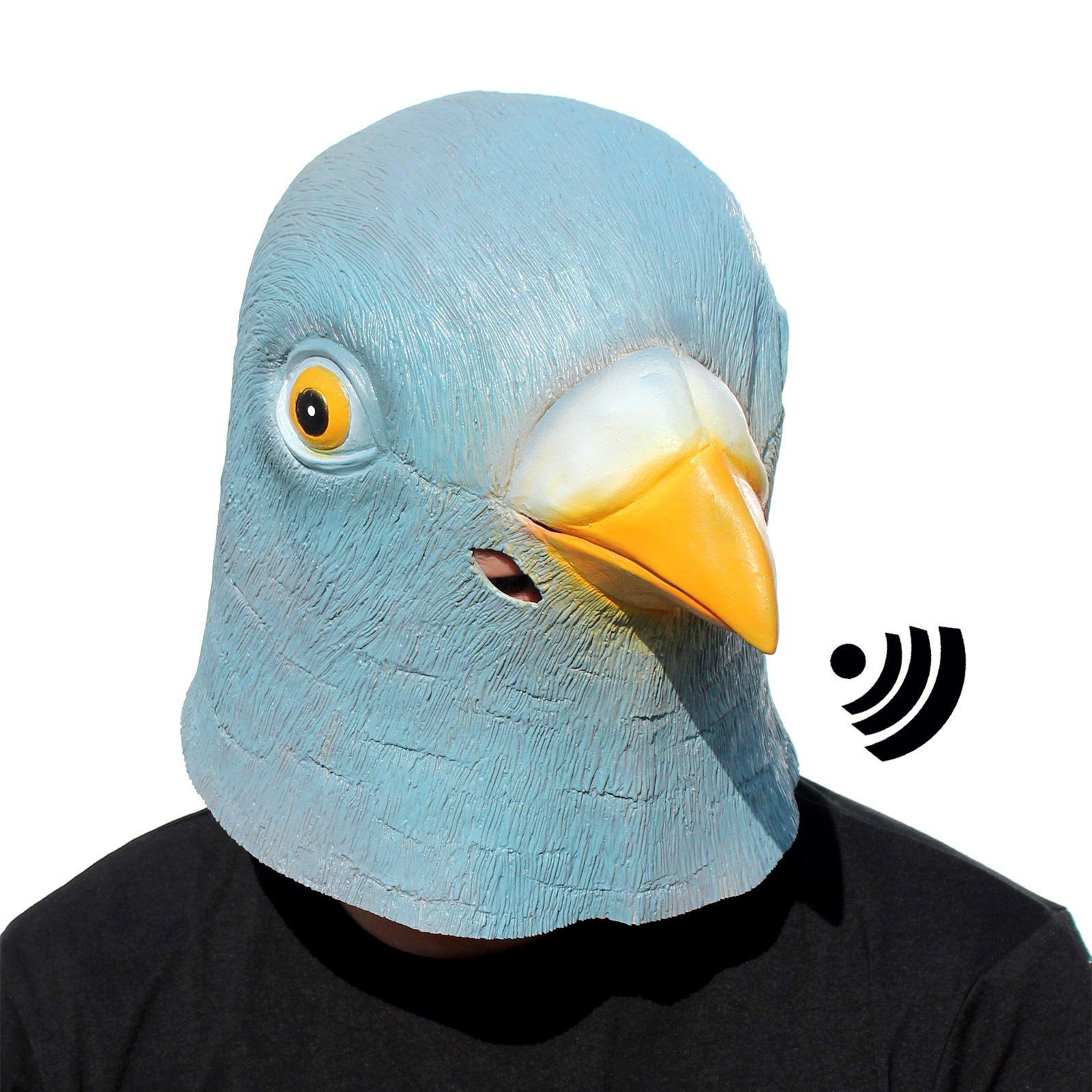 CreepyParty Deluxe Novelty Halloween Costume Party Latex Bird Head Mask Sounding Pigeon by CreepyParty