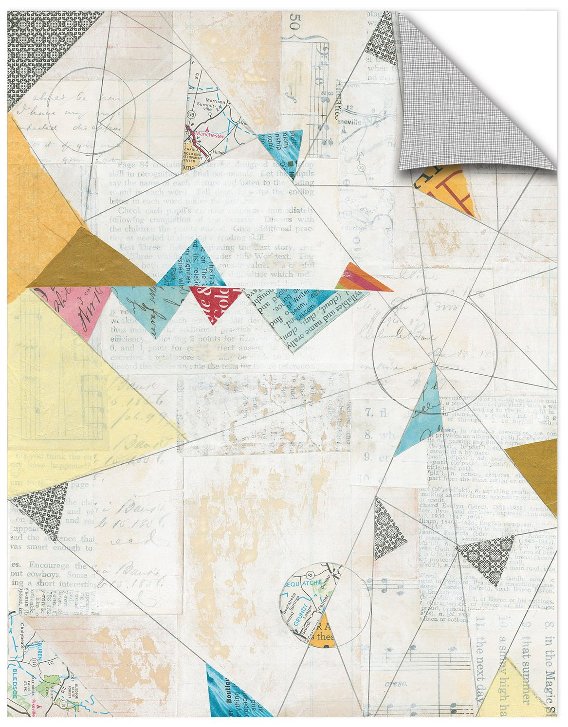 ArtWall Courtney Prahls Map Collage Removable Wall Art Mural 18 x 24