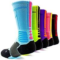 ffb85dc40 JIYE Elite Basketball Socks 5 Pack|Dri-Fit Athletic Crew Sport for Boy Girl