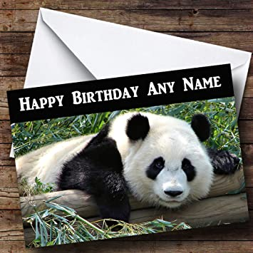 Gorgeous panda personalised birthday card amazon office products gorgeous panda personalised birthday card bookmarktalkfo Image collections