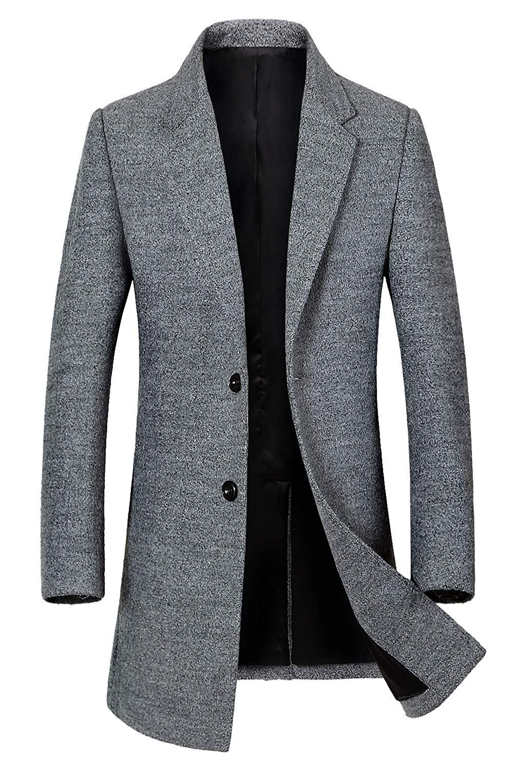 Men's Classic Single Breasted Wool Walker Coat Stylish Jacket 101219 EFC000101-PA