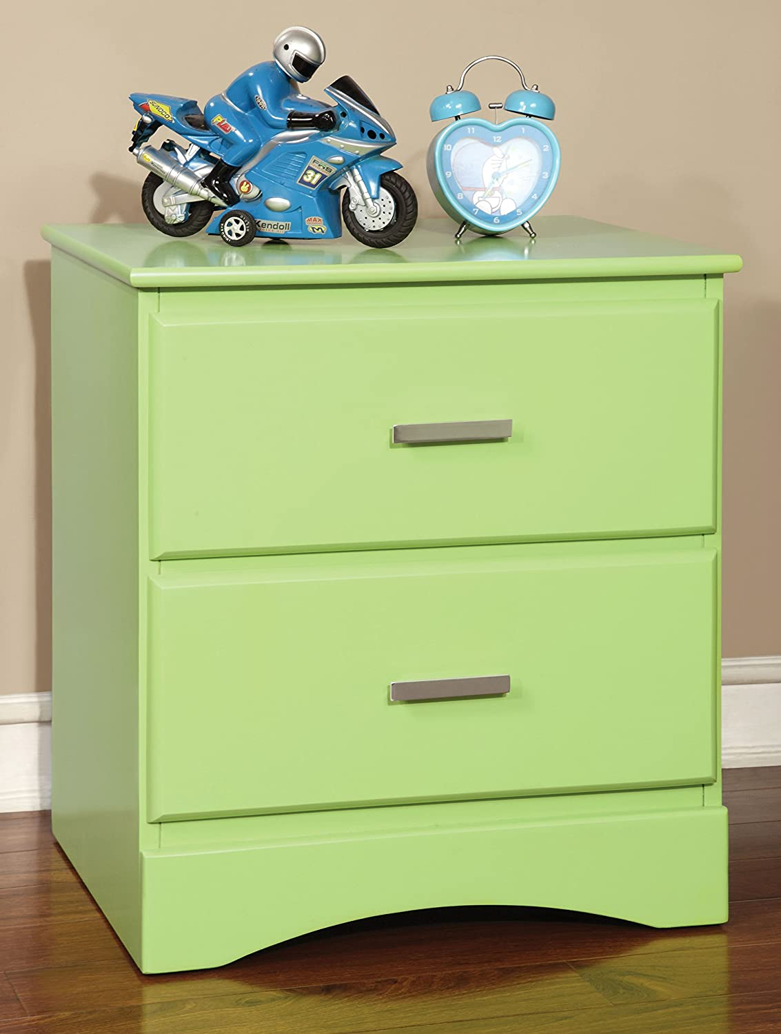 Furniture of America Kolora Youth Nightstand, Green