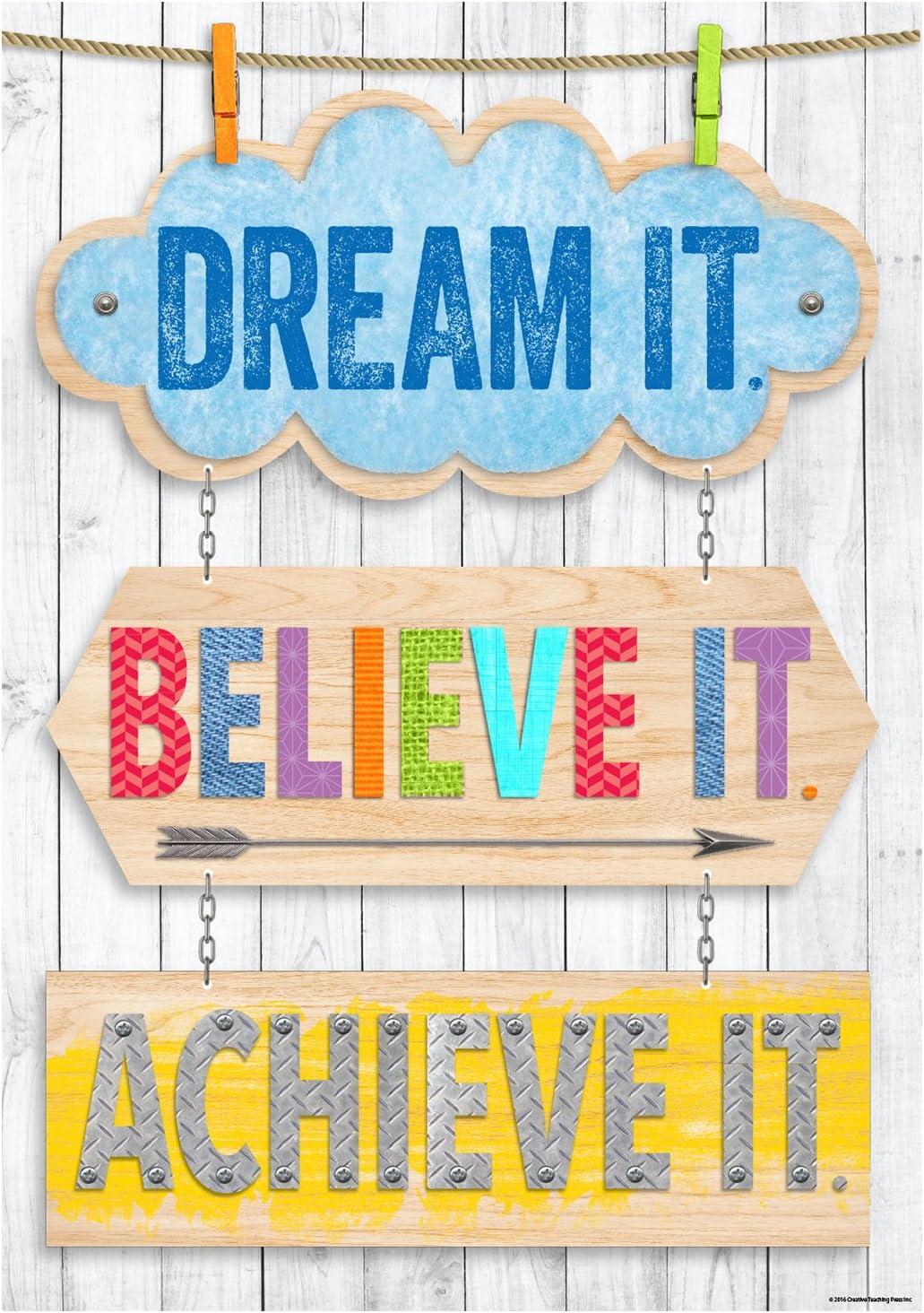 7286 Creative Teaching Press Poster Dream It Inspire U Poster Believe It Achieve It