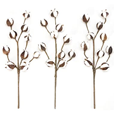 Silvercloud Trading Co. New Cotton Stems 3 Stems/Pack-10 Cotton Buds/Stem