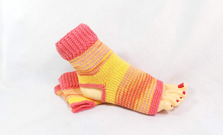 Amazon Handmade Flip Flop Sock Cotton Yoga Socks Handmade