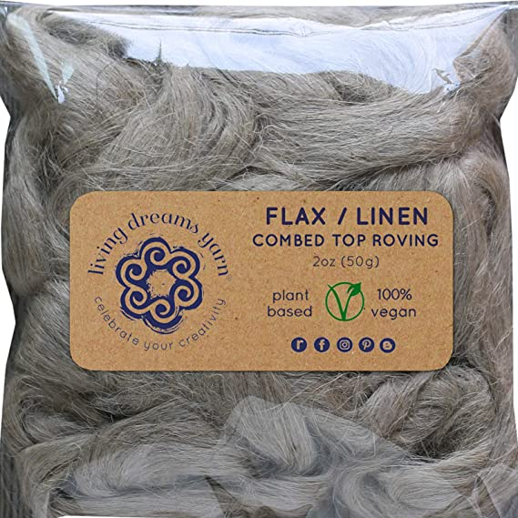 doll hair spinning superior flax linen roving tops sliver FIR  DHG  natural flax fibers for wet felting weaving