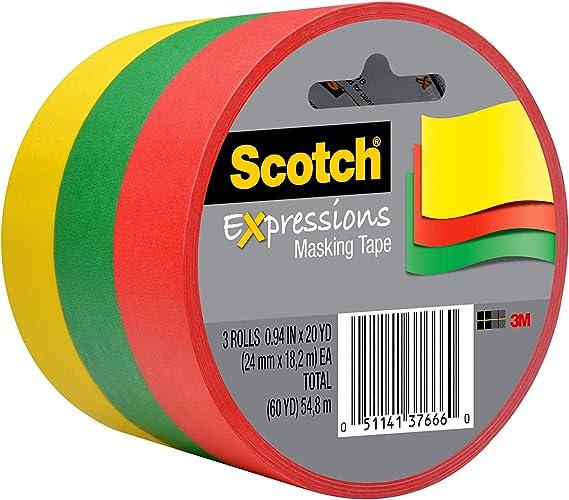 3m 3437-P7 .94 X 20 Yards Pink Geometric Expressions Masking Tape