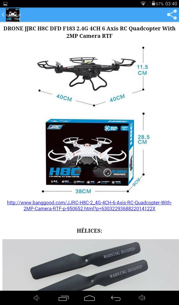 H8C DRONE JRC: Amazon.es: Appstore para Android