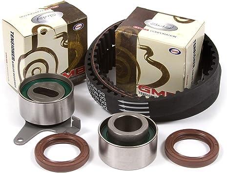 SCITOO Engine Timing Part Belt Set Timing Belt Kits fit KIA Rio DOHC L4 16 Valves 1.5L 1.6L 2001-2005 Replacement Timing Tools A5D A6D