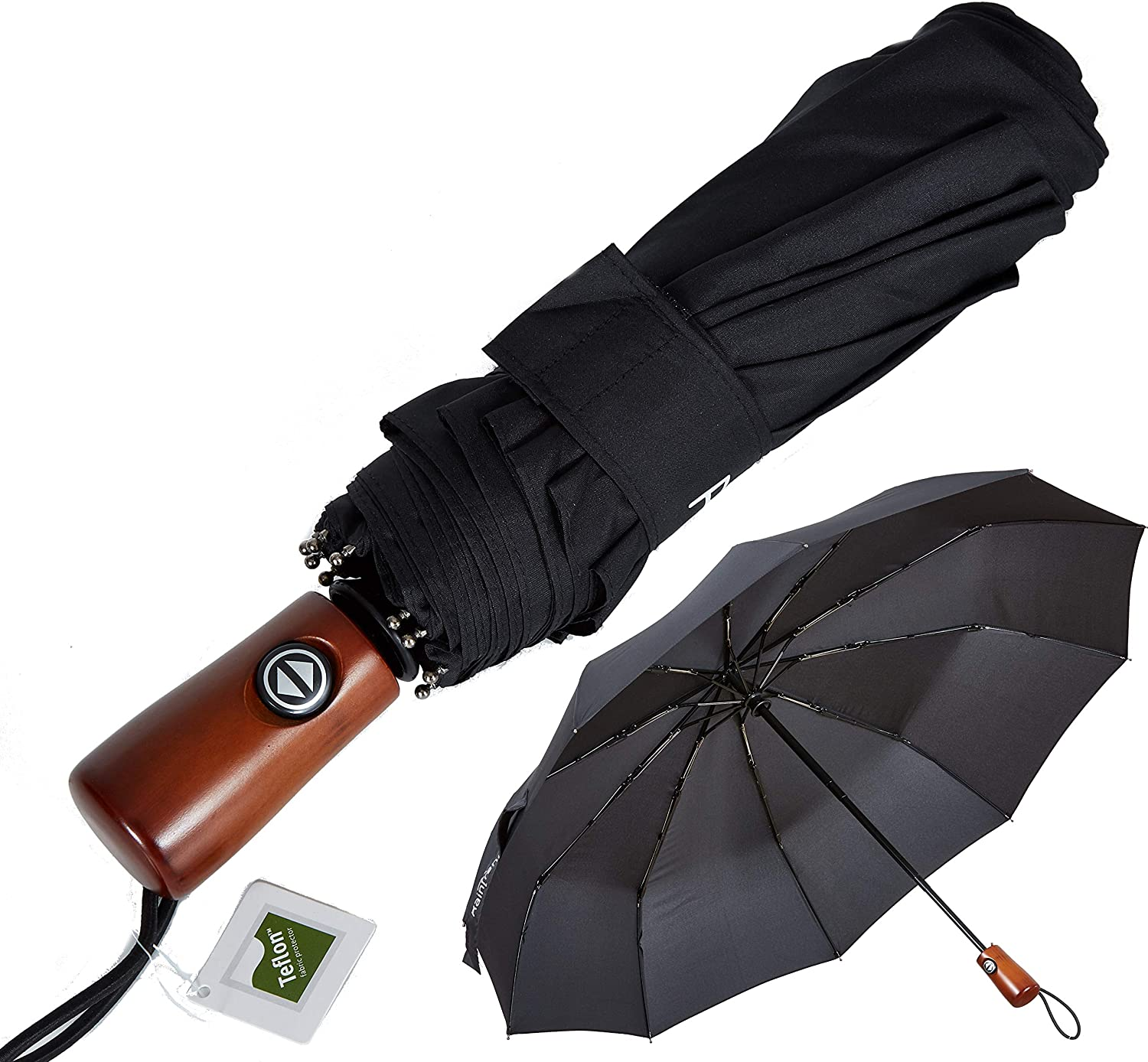 Auto Open and Close Button Travel Umbrella Windproof-Lace Background,Durable Folding Compact Umbrella for Outdoor Rainy Use