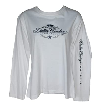 40af3628 Image Unavailable. Image not available for. Color: Dallas Cowboys Women's  Size Small Long Sleeve White Shirt