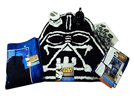 Star Wars Bathroom Set, Shower Curtain, Hooks, Bath Rug, Bath Towel,