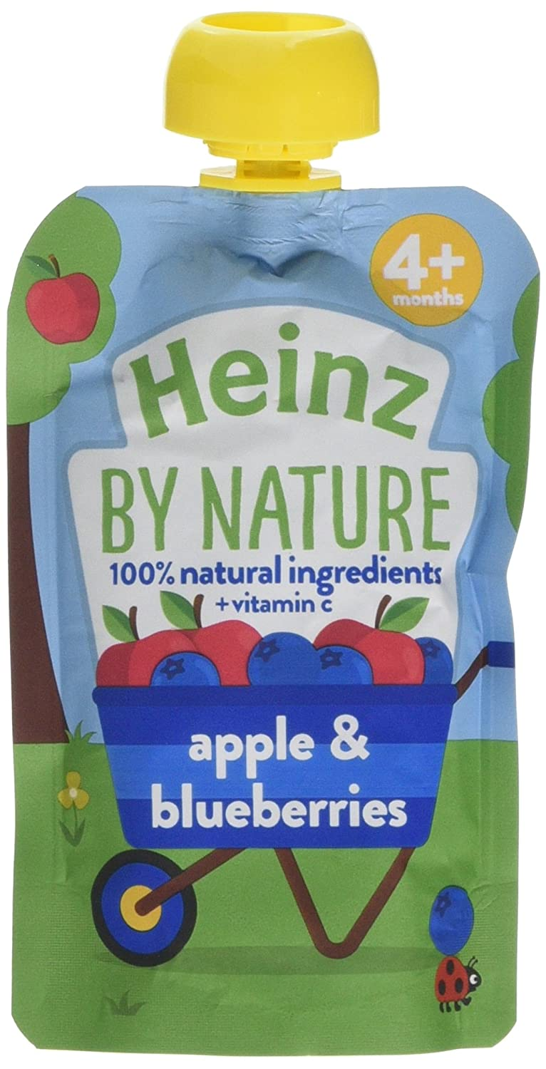 Heinz Apple and Blueberry Fruit Puree Pouch, 100 g (Pack of 6) The Kraft Heinz Company 76011085
