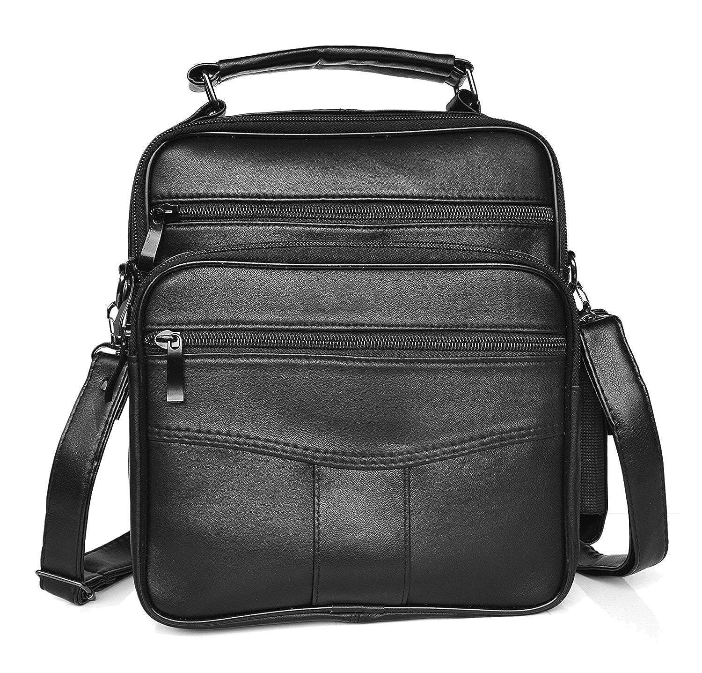dbf2c1070e LIVAN® -L0038- Sac Sacoche pochette Bandoulière en cuir vachette (NOIR L):  Amazon.fr: Chaussures et Sacs