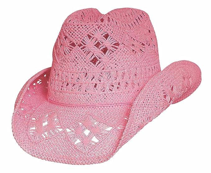 Bullhide Hats 2233P Run A Muck Collection Des Moines Pink Cowboy Hat ... f78d262955ea