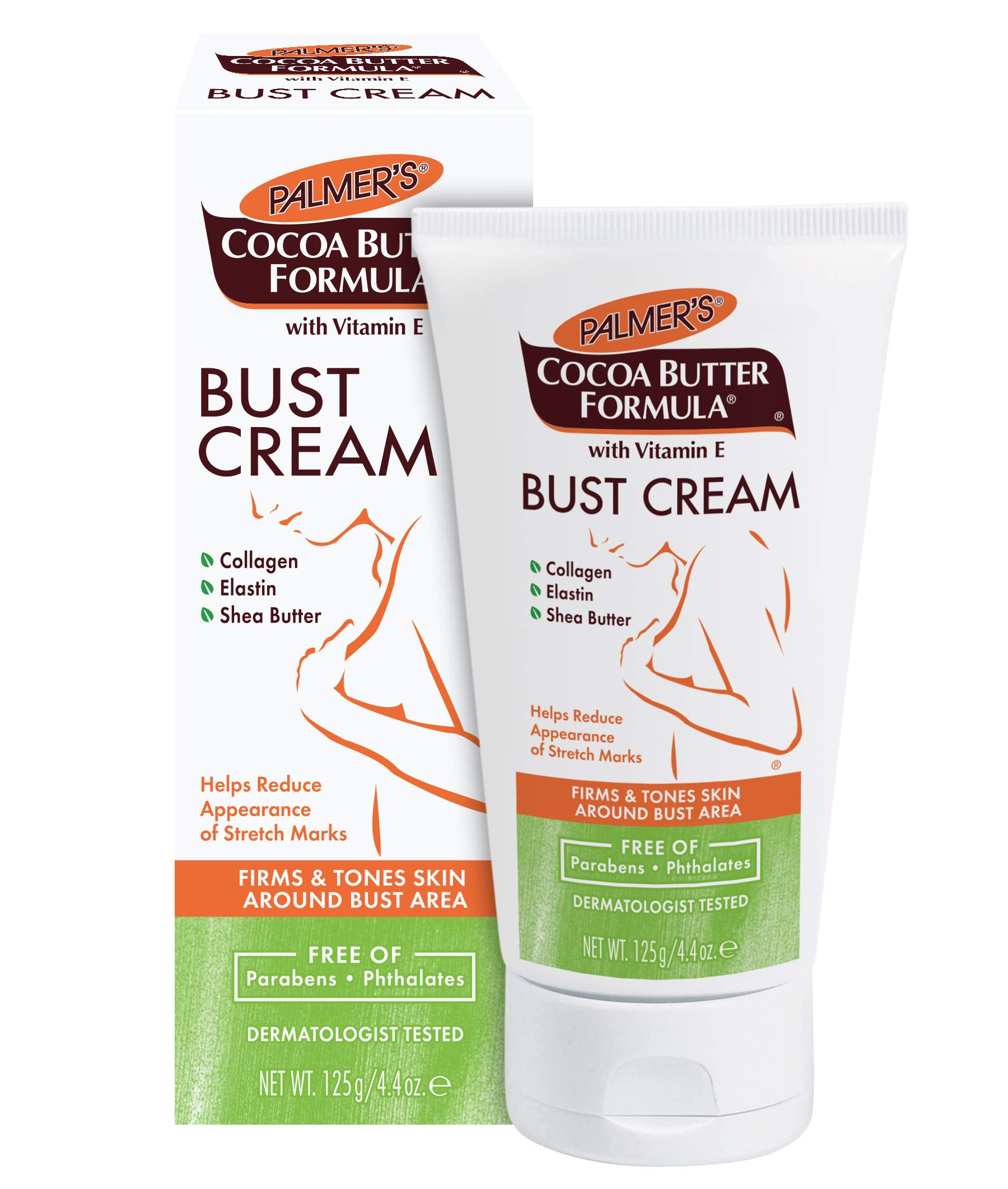 Palmer's Cocoa Butter Formula Bust Cream for Pregnancy Skin Care with Vitamin E | 4.4 oz. (Pack of 3) by Palmer's