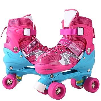 Weskate Inline Skates/Rollschuhe Kinder verstellbare Rollschuhe Mädchen Mesh atmungsaktive Inliner Kinder für Jungen/Mädchen/