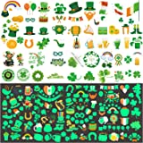 St Patricks Day Tattoos, 200 Pcs St. patrick's Day Temporary Tattoos including 90 Glow in The Dark or Night for St. Paddy's D
